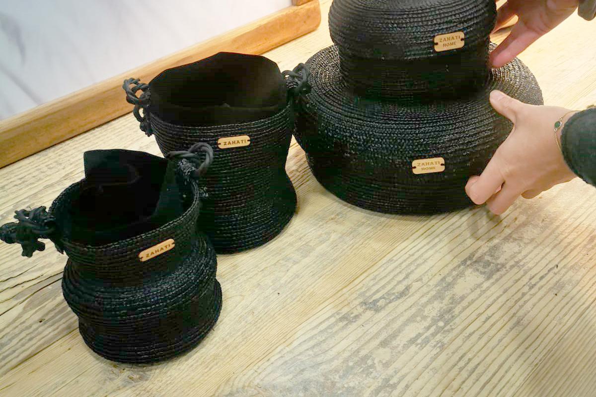 Bolso burbuja de paja de trigo natural hecho a mano de Zahati