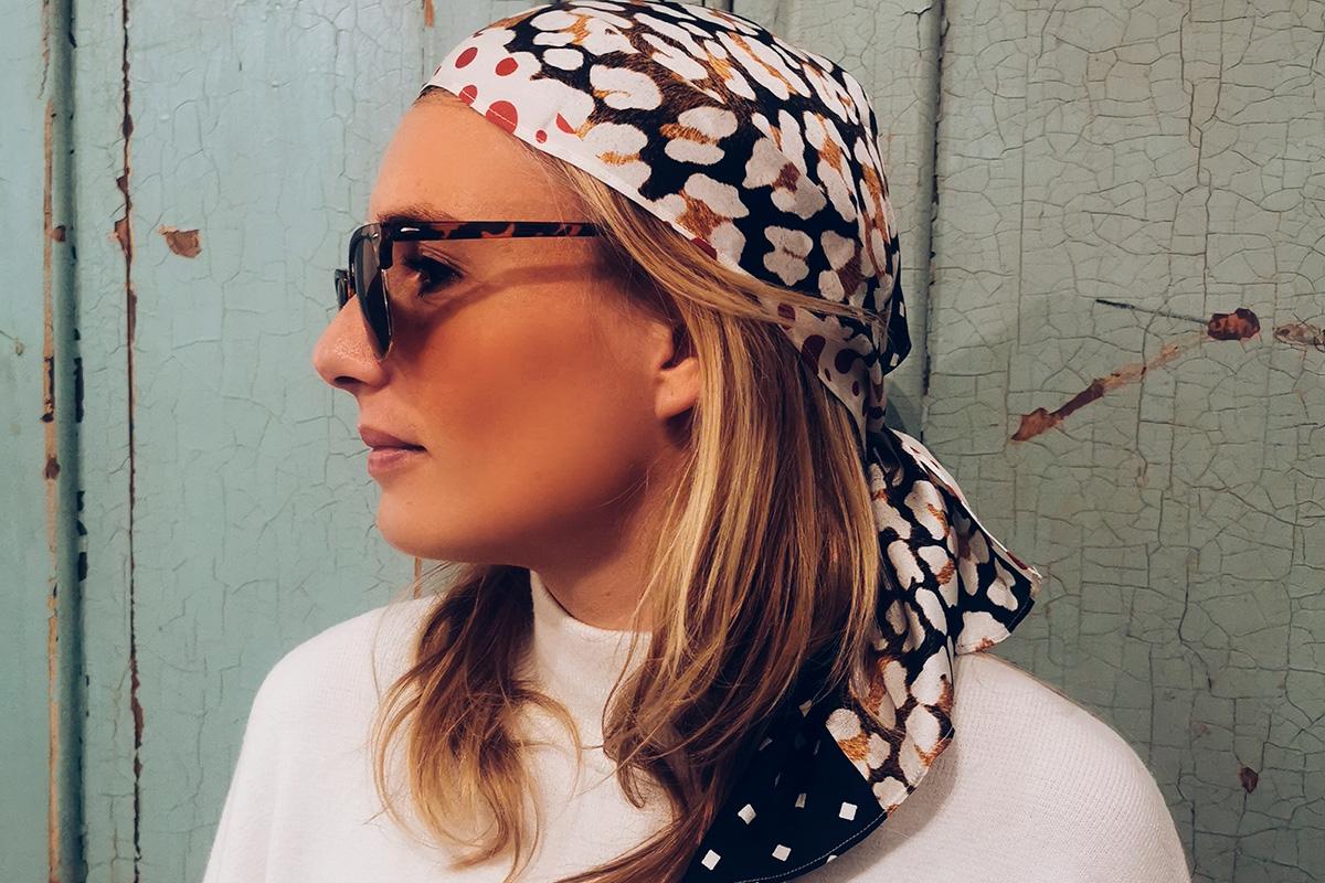 Pañuelo de seda natural italina Juul, hecho a mano, moda sostenible IO DREAMS