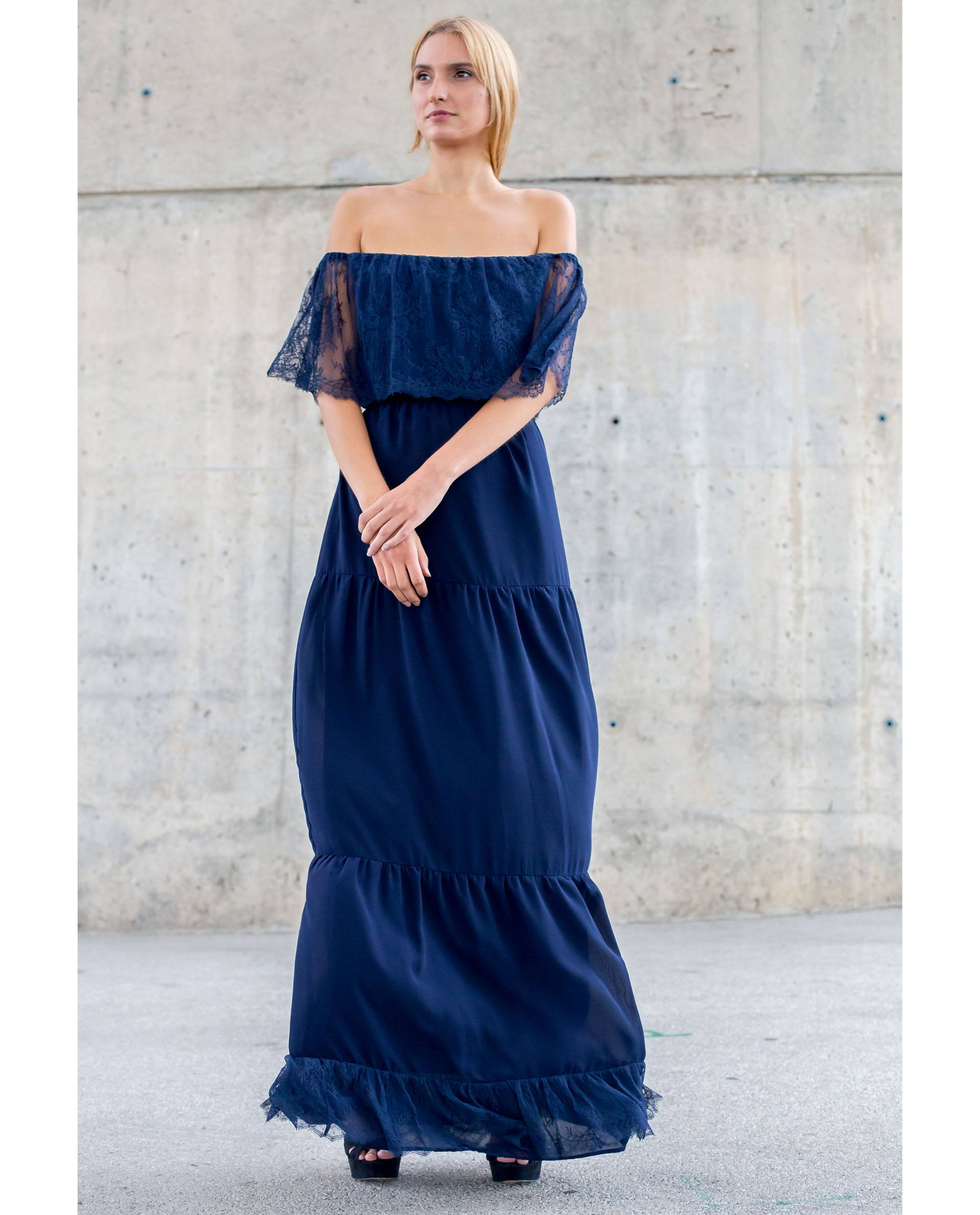 PRÊT À PORTER-SPRING/SUMMER 2018 - FALDAS - Falda esparta de georgette azul marino