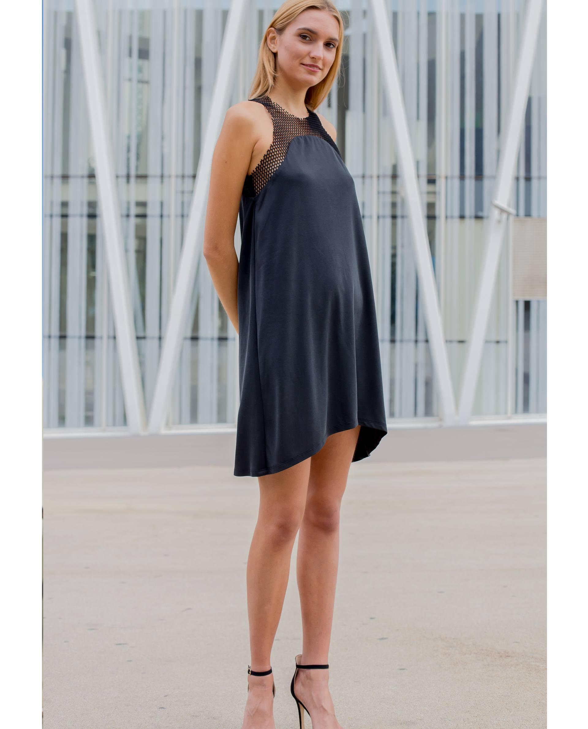 Vestido mini calonge de modal viscosa