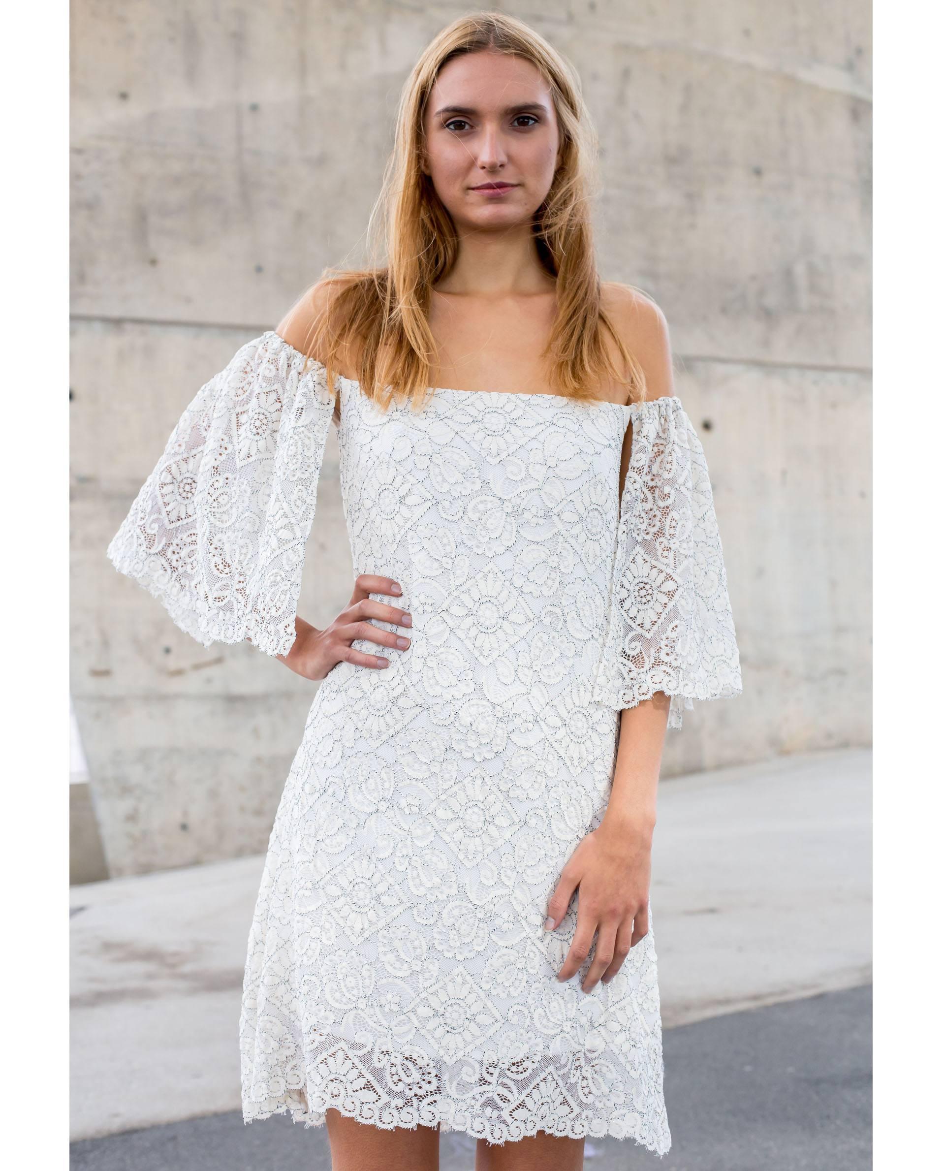 PRÊT À PORTER-SPRING/SUMMER 2018 - VESTIDOS - Vestido mini de encaje blanco