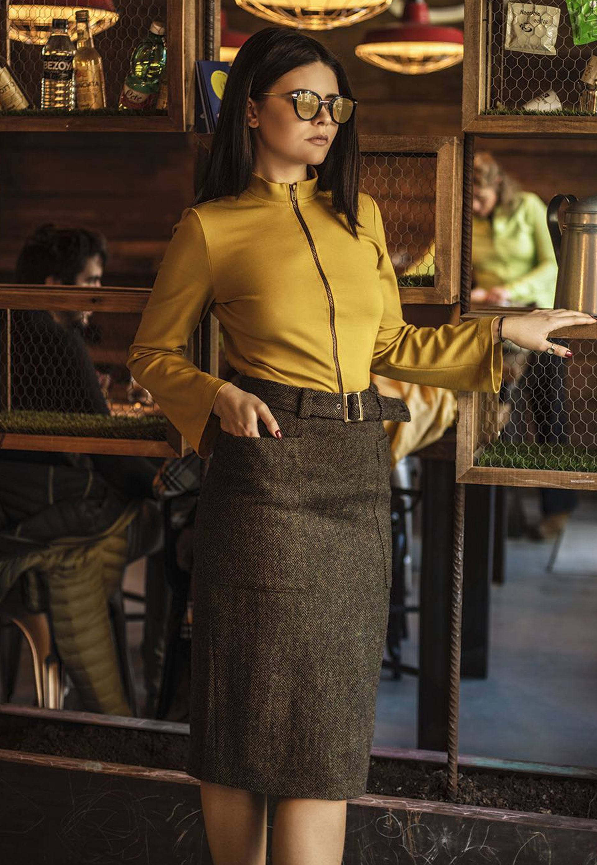falda adrika bolsos laterales