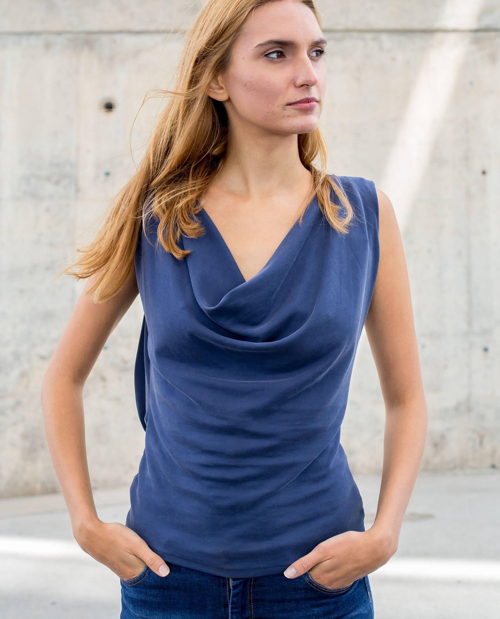 top azul índigo