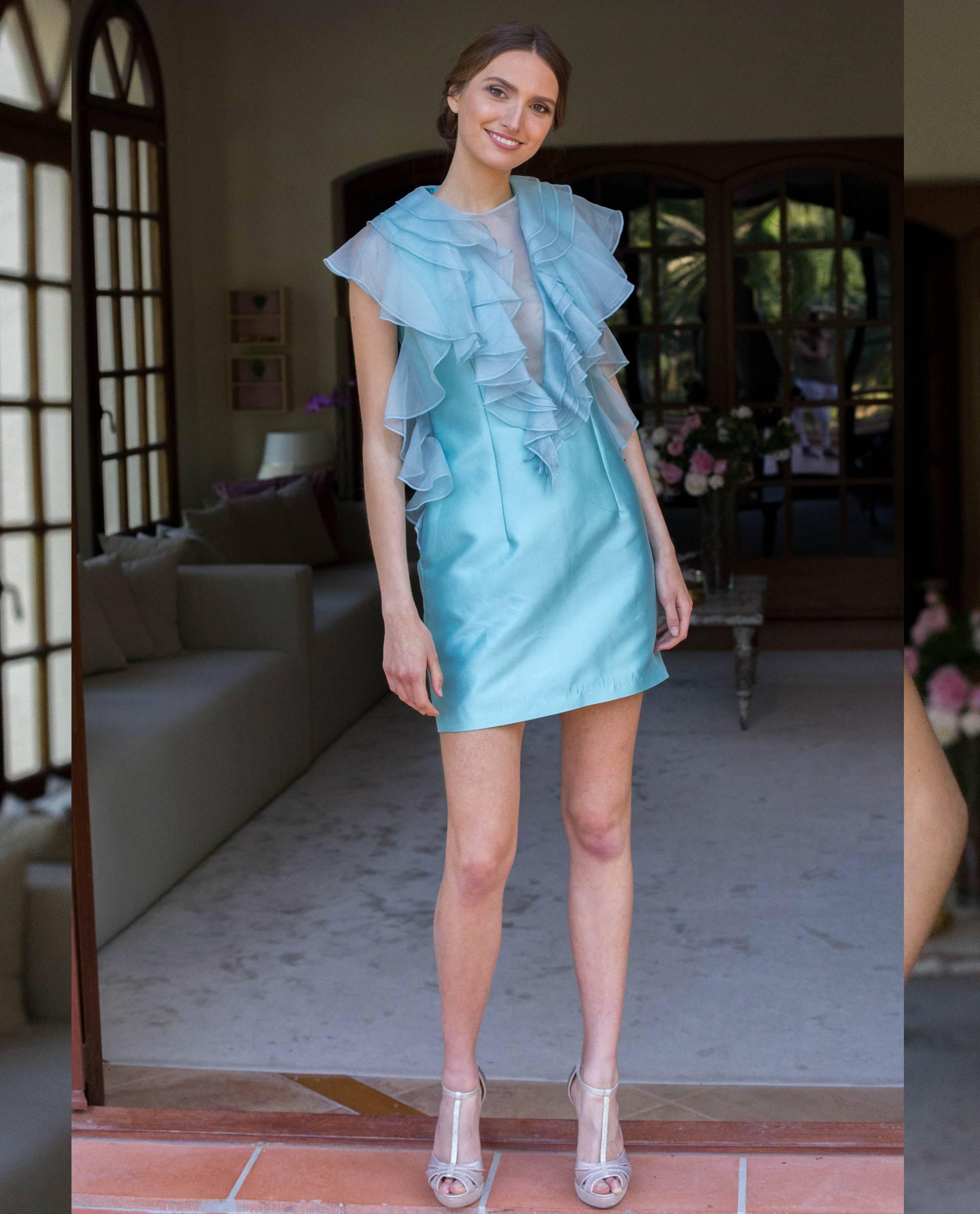 ATELIER-NATURE 2019 - VESTIDOS - vestido fiesta MIA azul