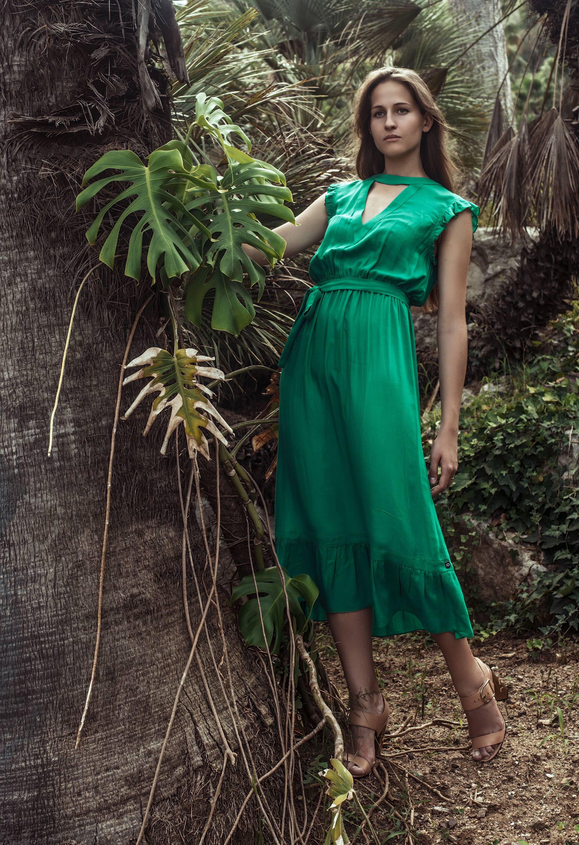 PRÊT À PORTER-BÁSICOS - VESTIDOS - Vestido verde esmeralda IO DREAMS
