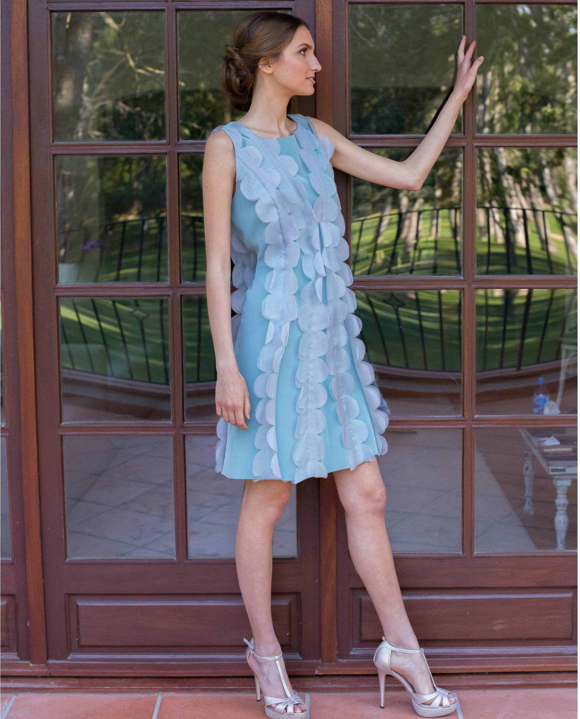 ATELIER-NATURE 2018/19 - VESTIDOS - vestido fiesta VALERIA azul