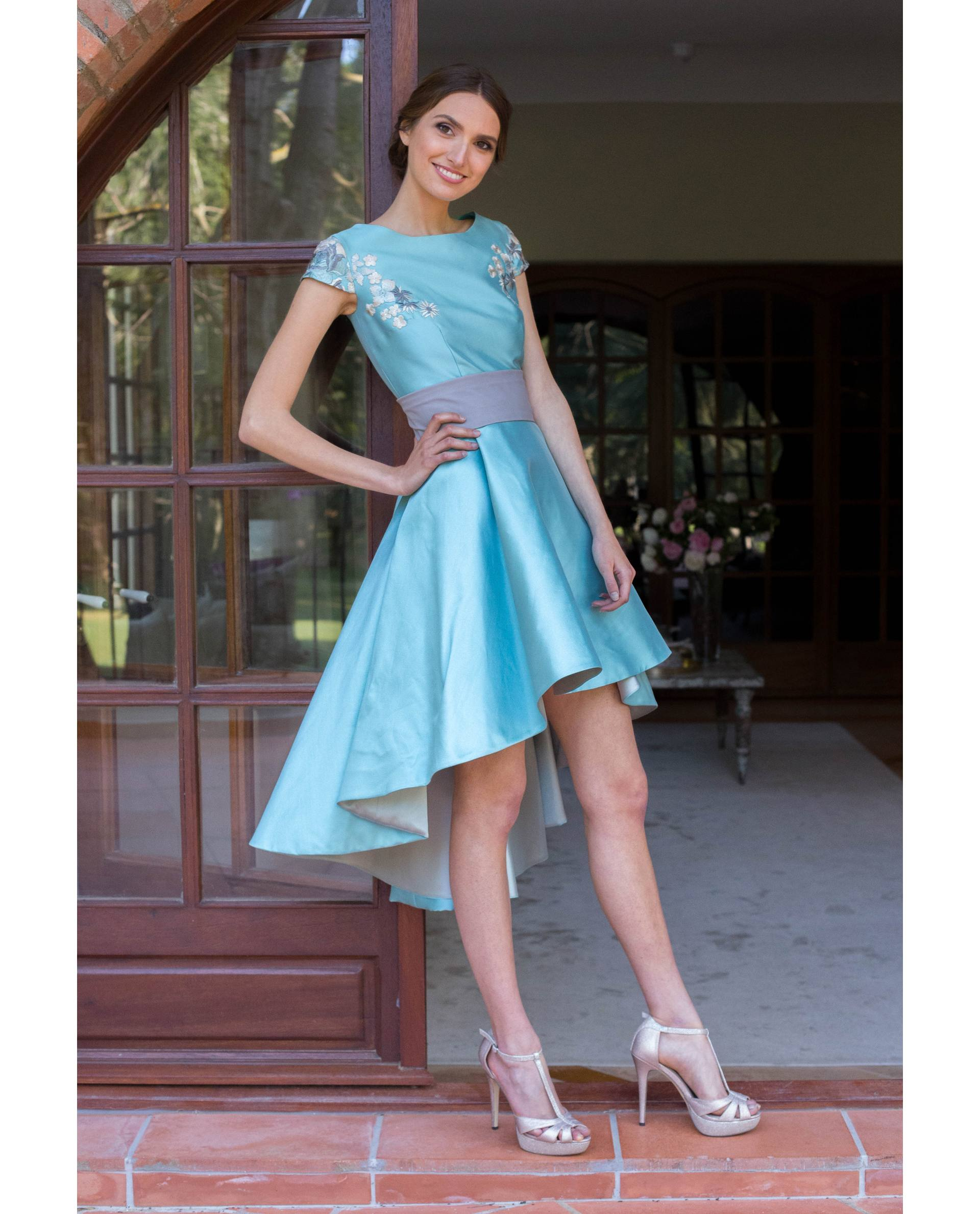 ATELIER-NATURE 2019 - VESTIDOS - vestido fiesta LIA azul