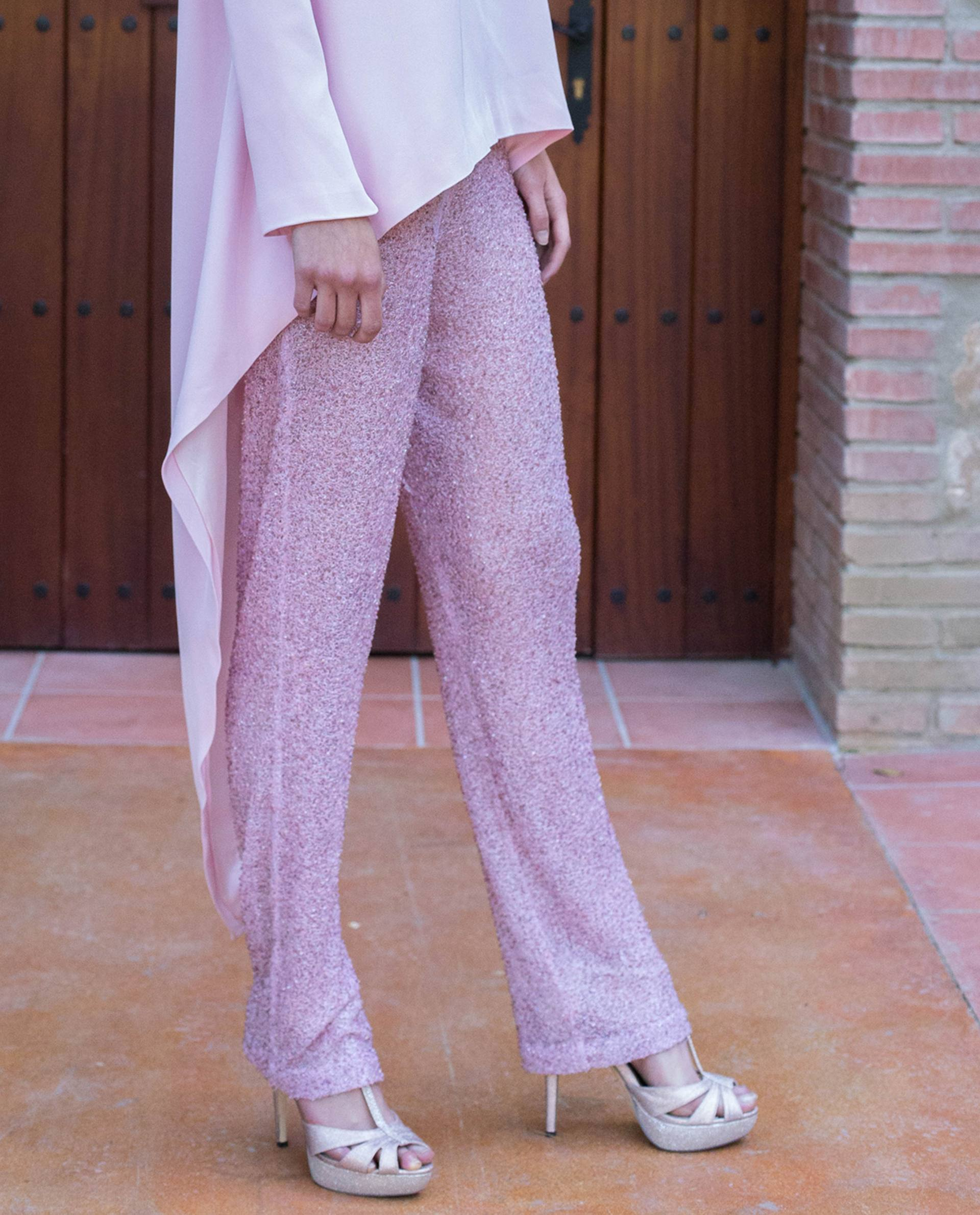 ATELIER-NATURE 2019 - PANTALONES - pantalón fiesta anouk rosa
