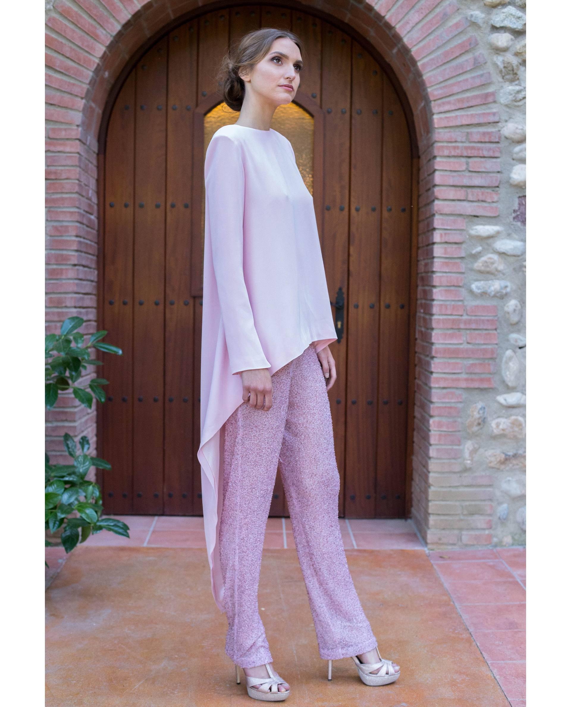 ATELIER-NATURE 2019 - BLUSAS - blusa fiesta andra rosa