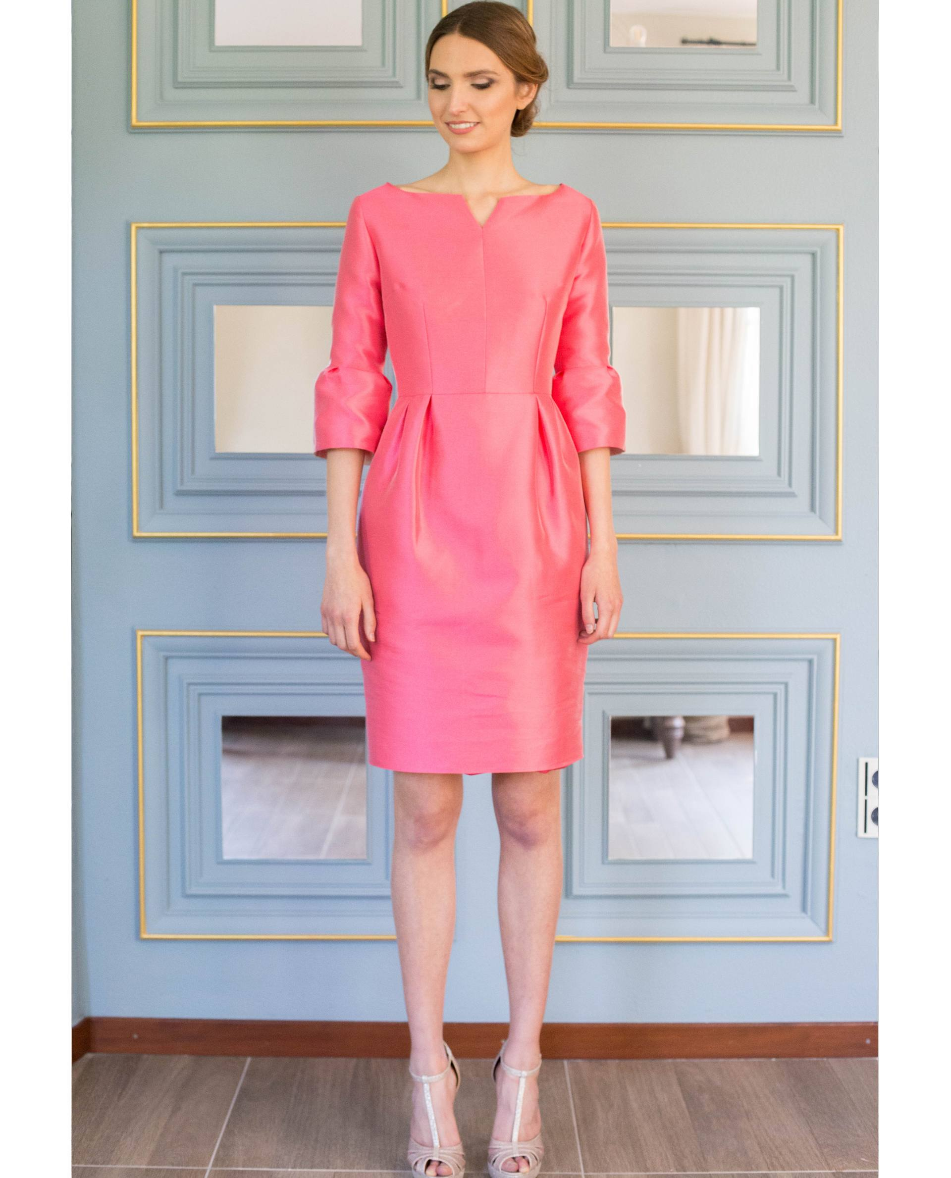 ATELIER-NATURE 2019 - VESTIDOS - vestido fiesta NORA rosa