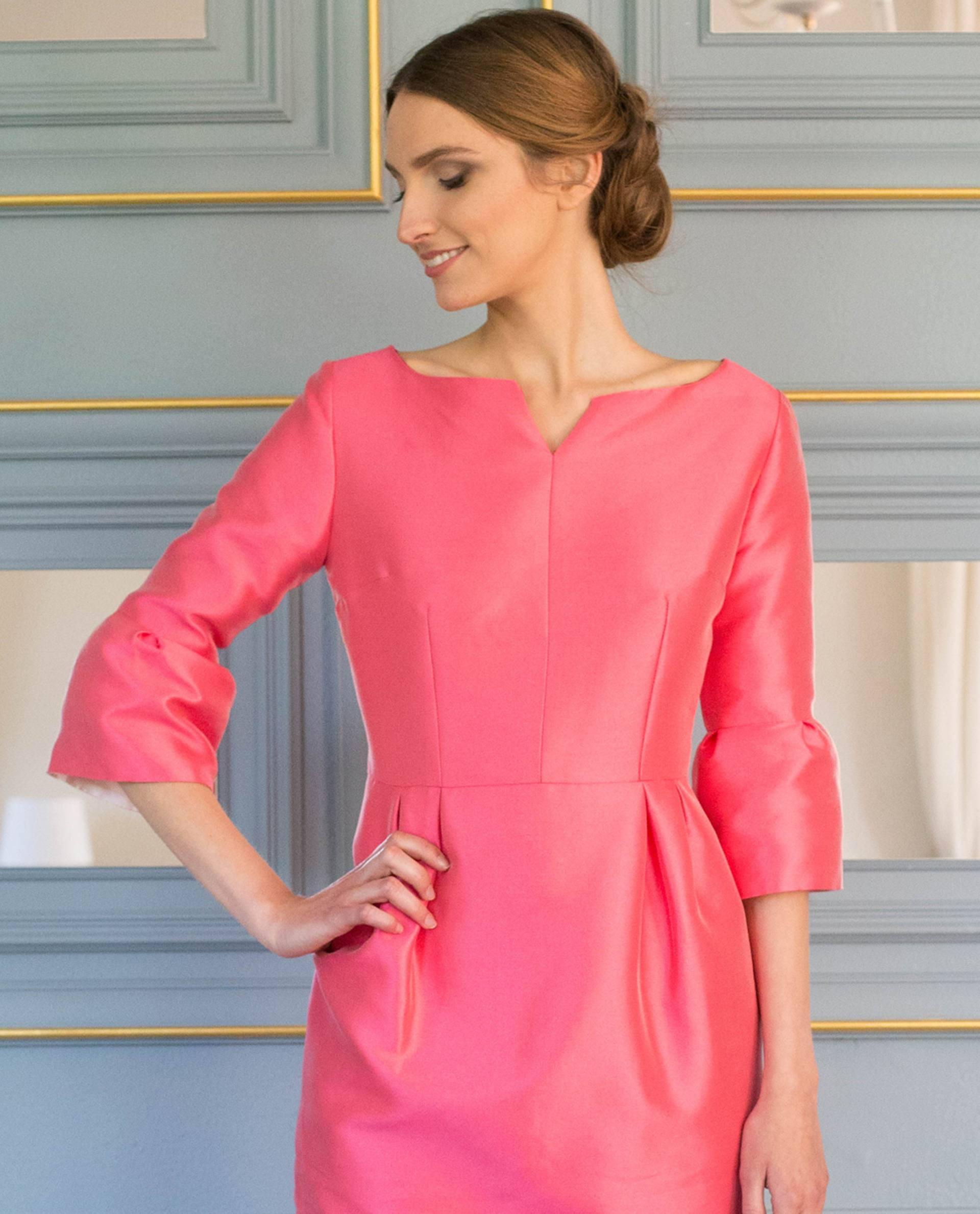Detalle vestido NORA rosa