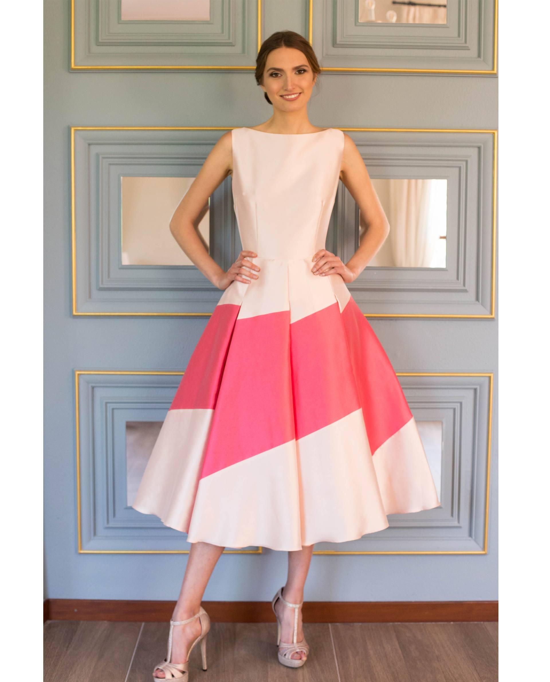 ATELIER-NATURE 2017/18 - VESTIDOS - vestido fiesta ANNIE rosa