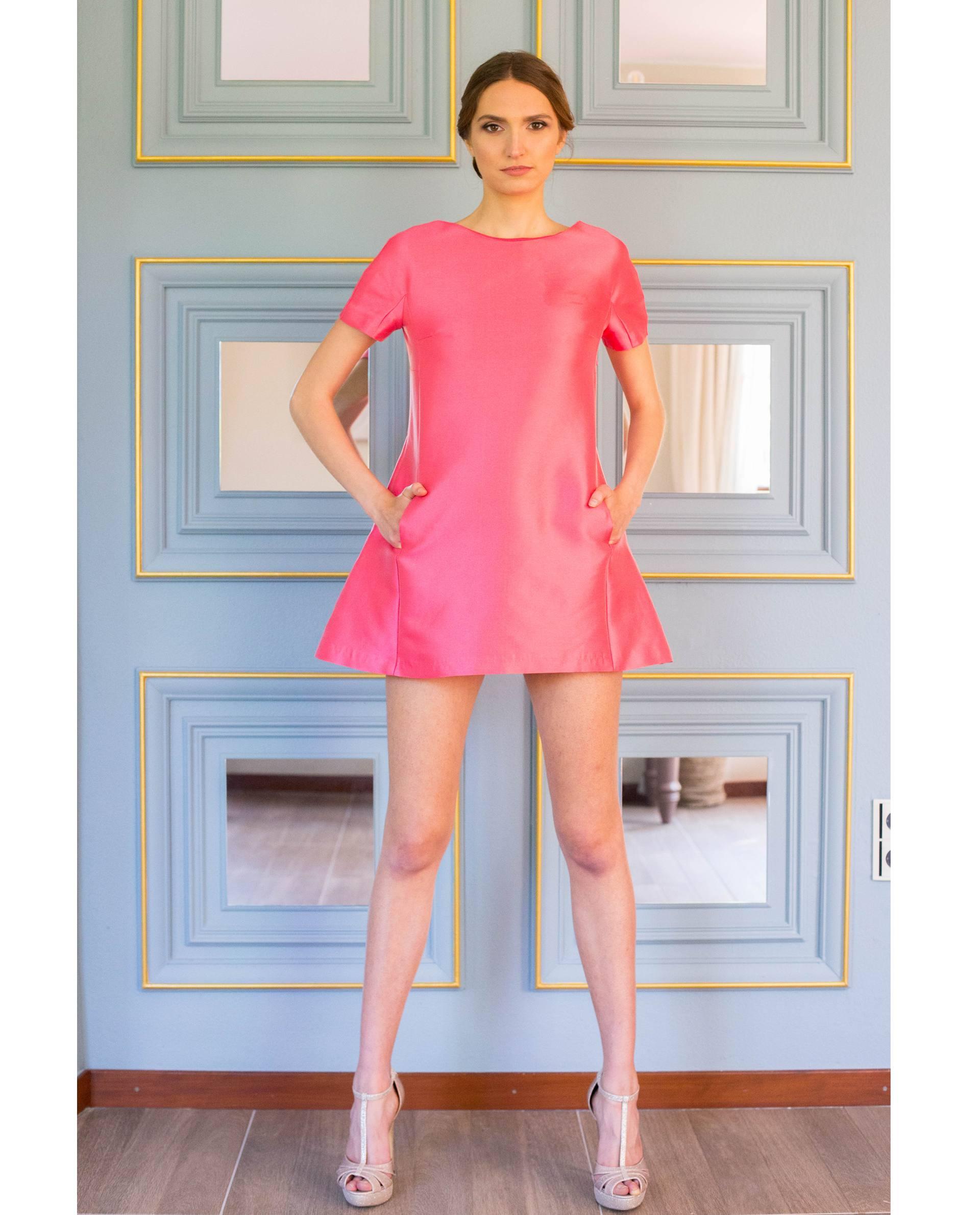 vestido fiesta MARTINA rosa