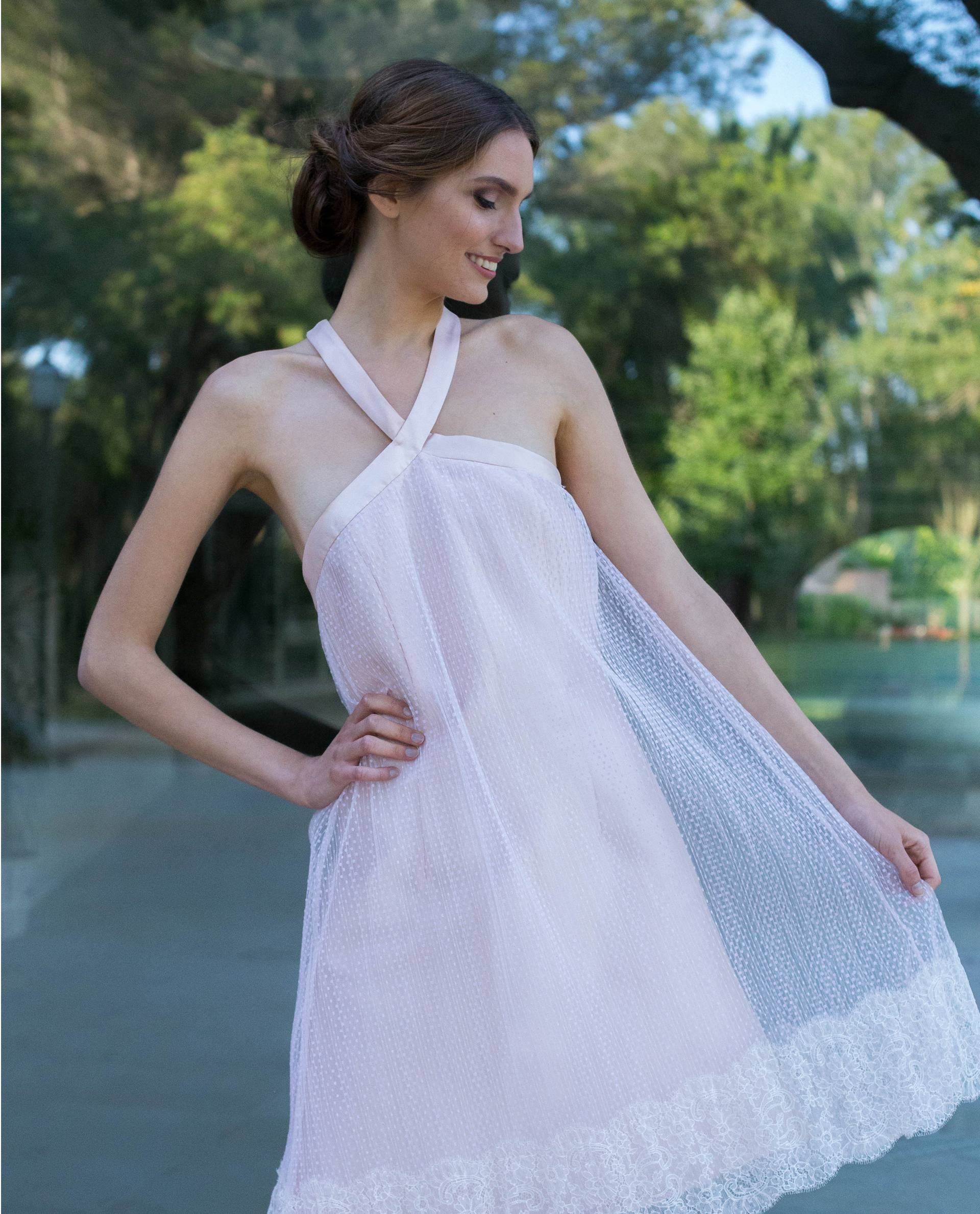 Detalle vestido VALENTINA blanco