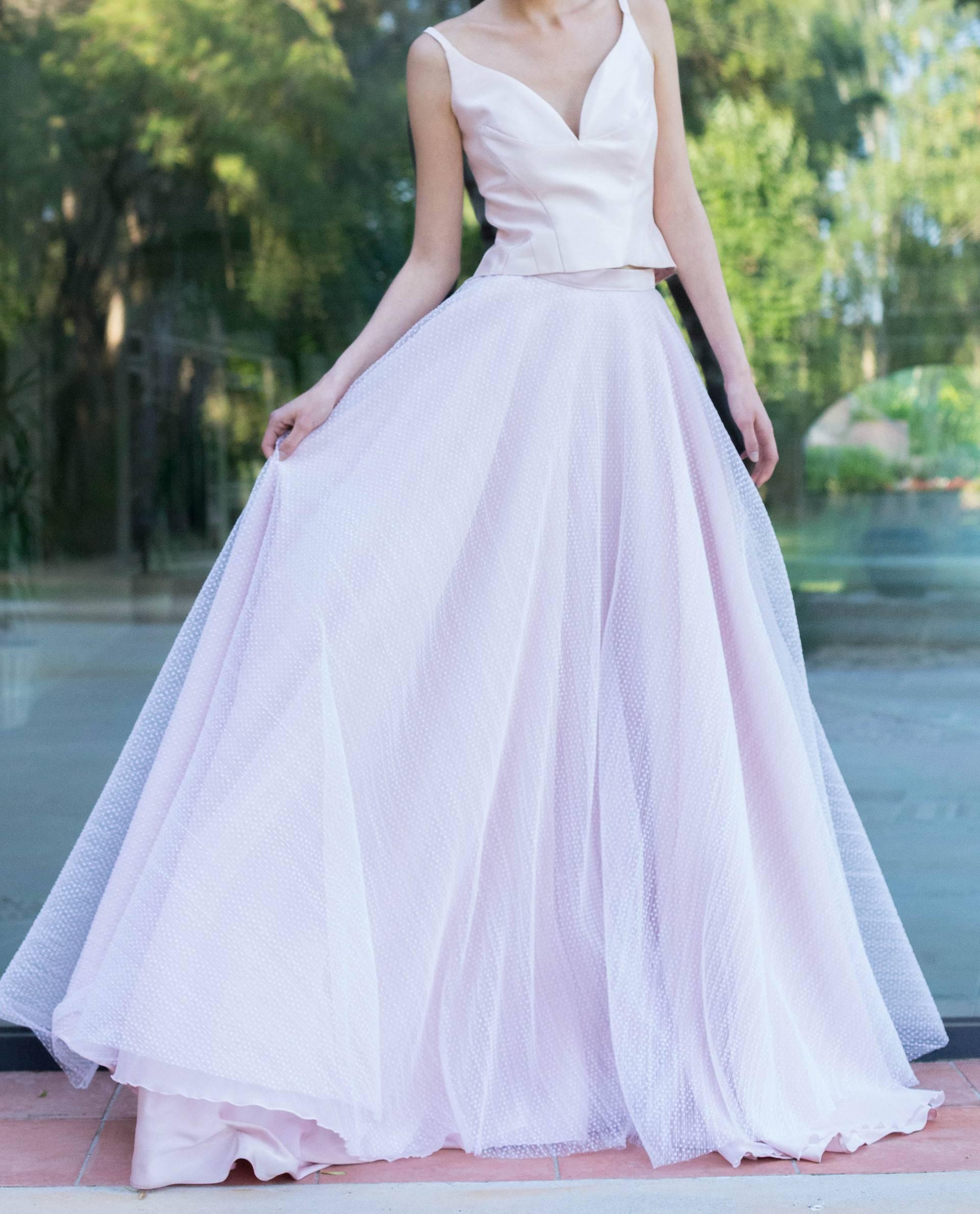 Conjunto top sophie con falda Norma blanca