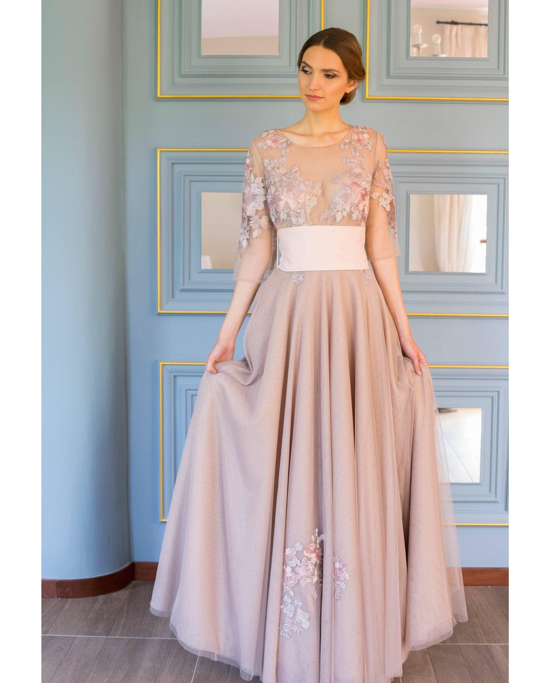 ATELIER-NATURE 2019 - VESTIDOS - vestido fiesta RANIA rosa palo