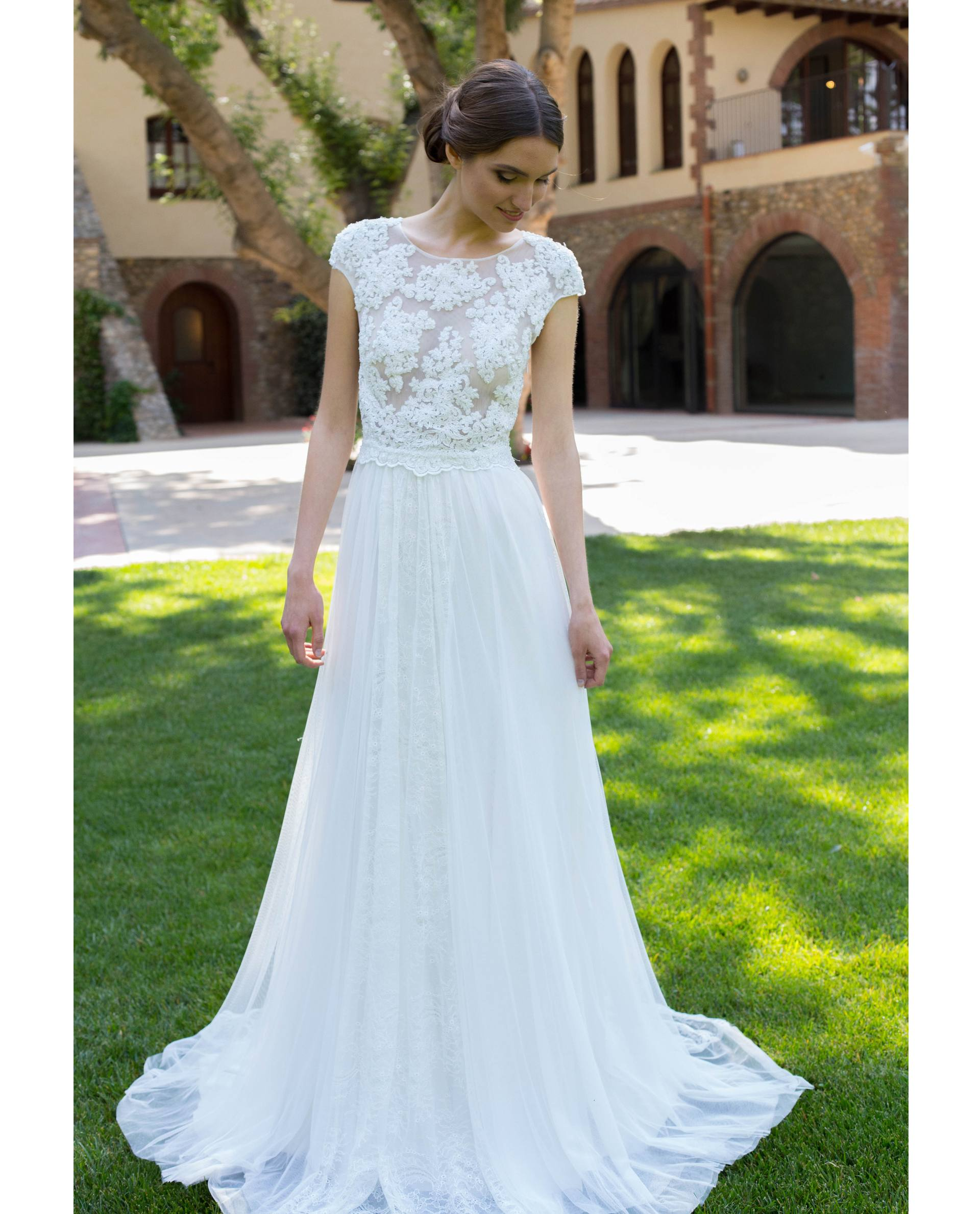 BRIDAL-NATURE 2018/19 - VESTIDOS - vestido novia Alba