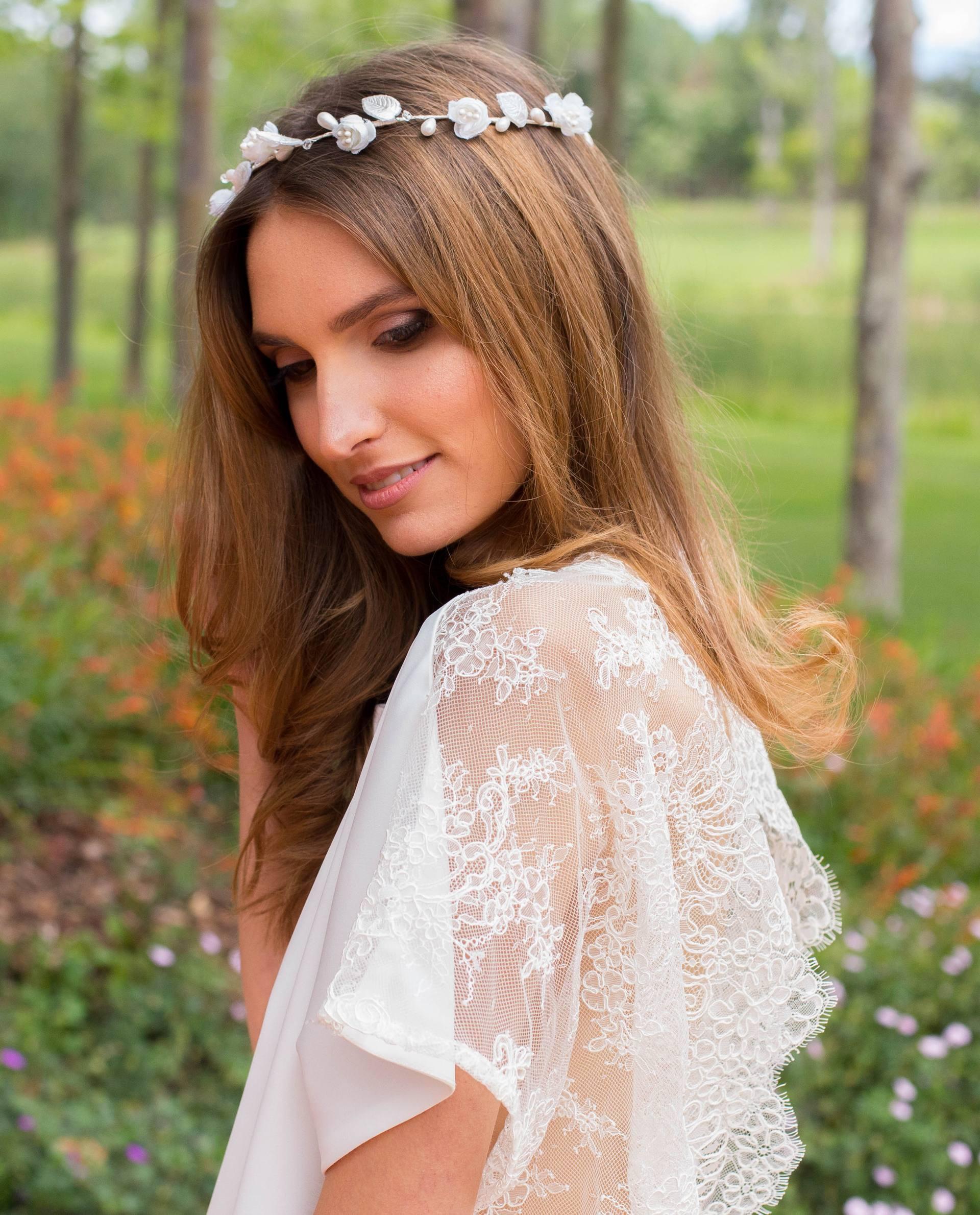 Detalle lateral vestido de novia Verónica