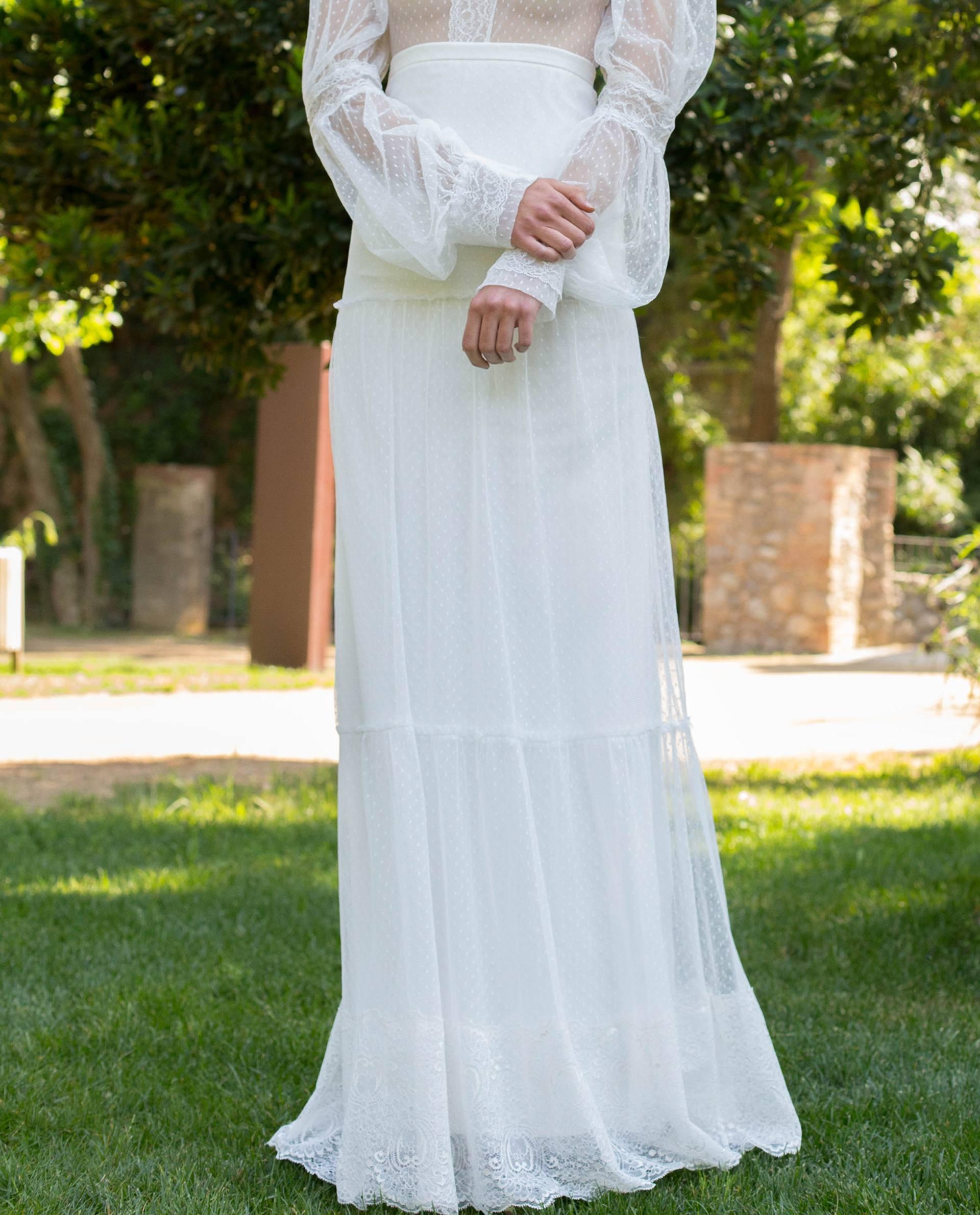 BRIDAL-NATURE 2018/19 - FALDAS - Conjunto falda Elena con cuerpo Victoria