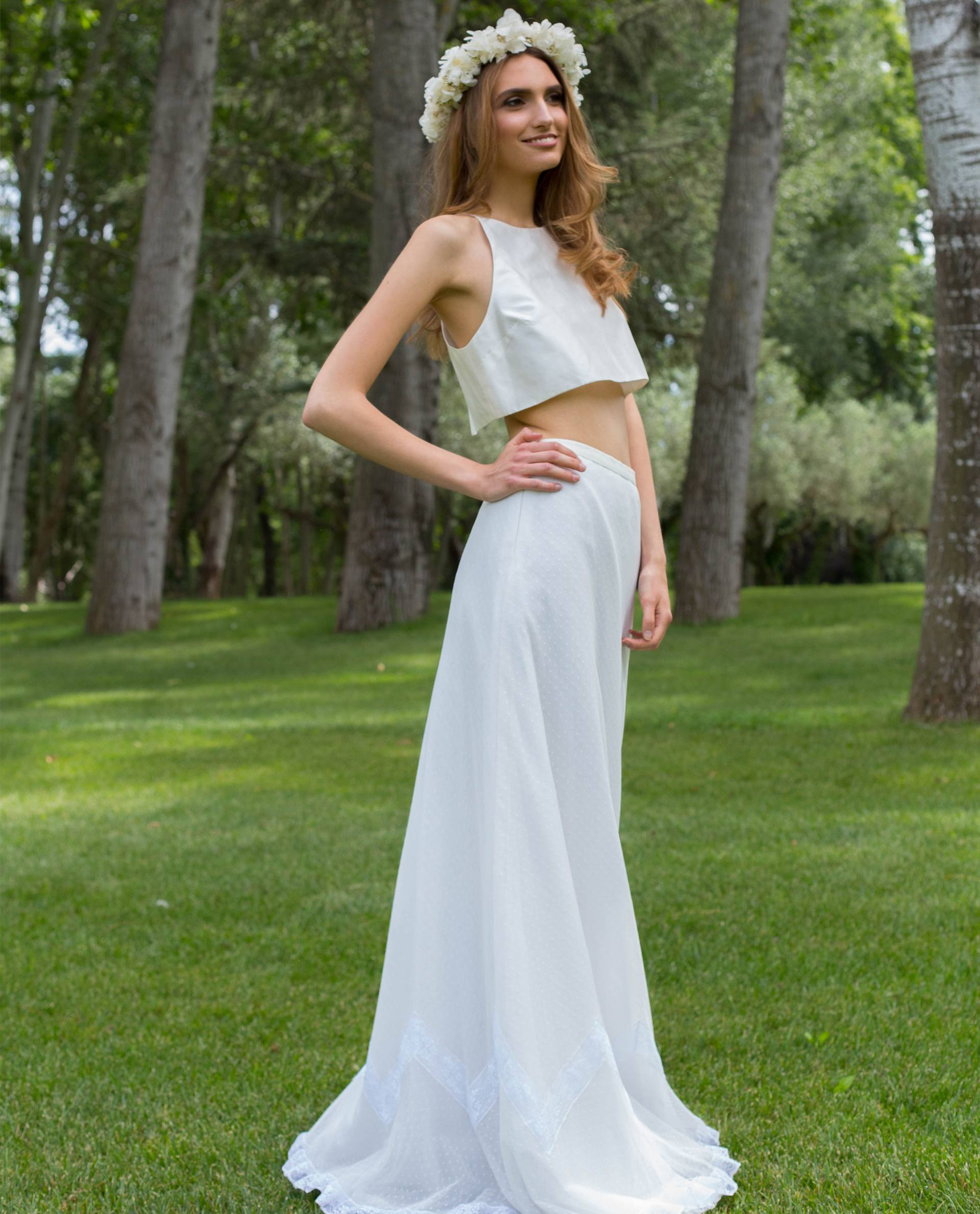 BRIDAL-NATURE 2018/19 - FALDAS - top novia Alliya
