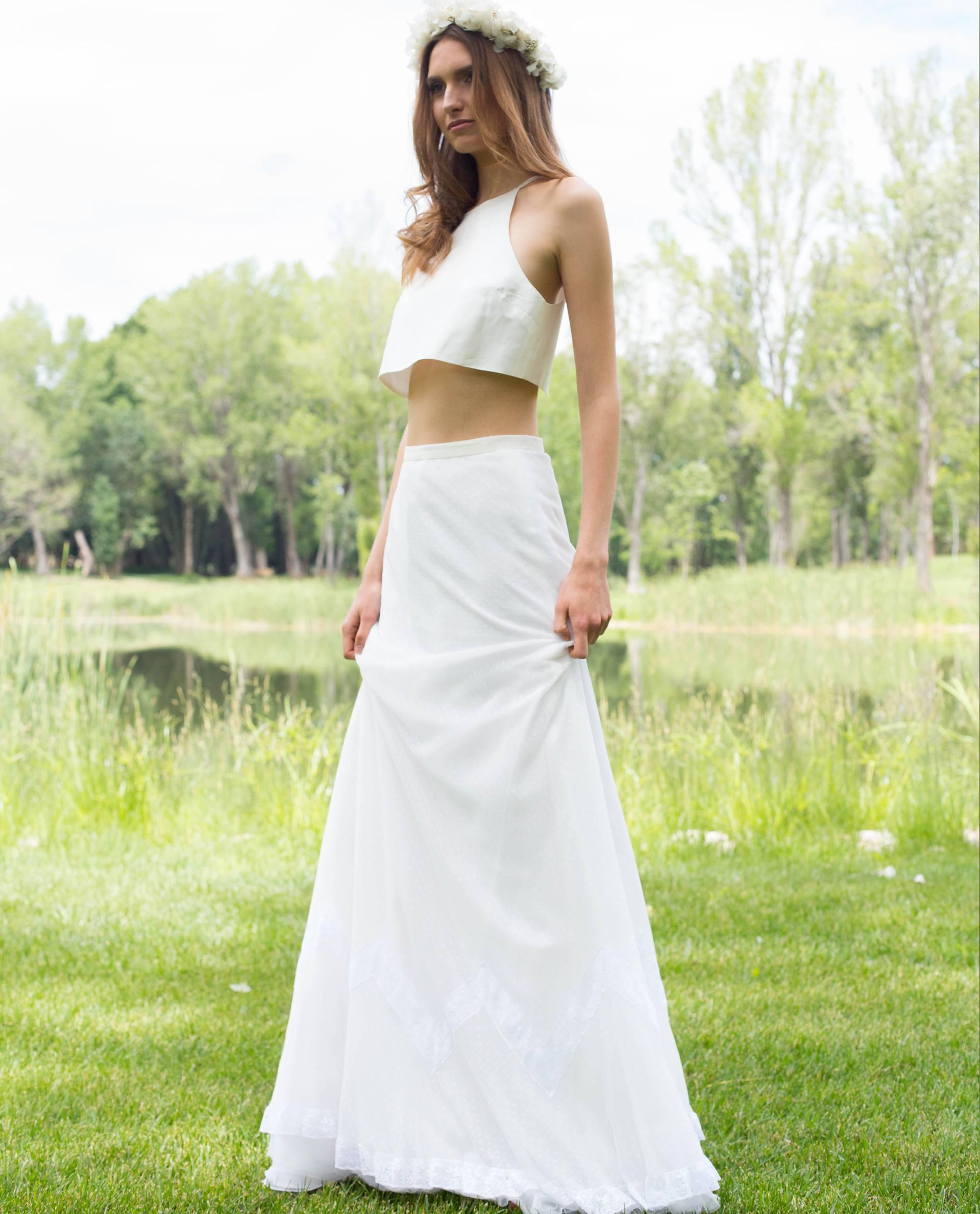 BRIDAL-NATURE 2017/18 - BLUSAS - Conjunto falda Denisa con cuerpo Elliya