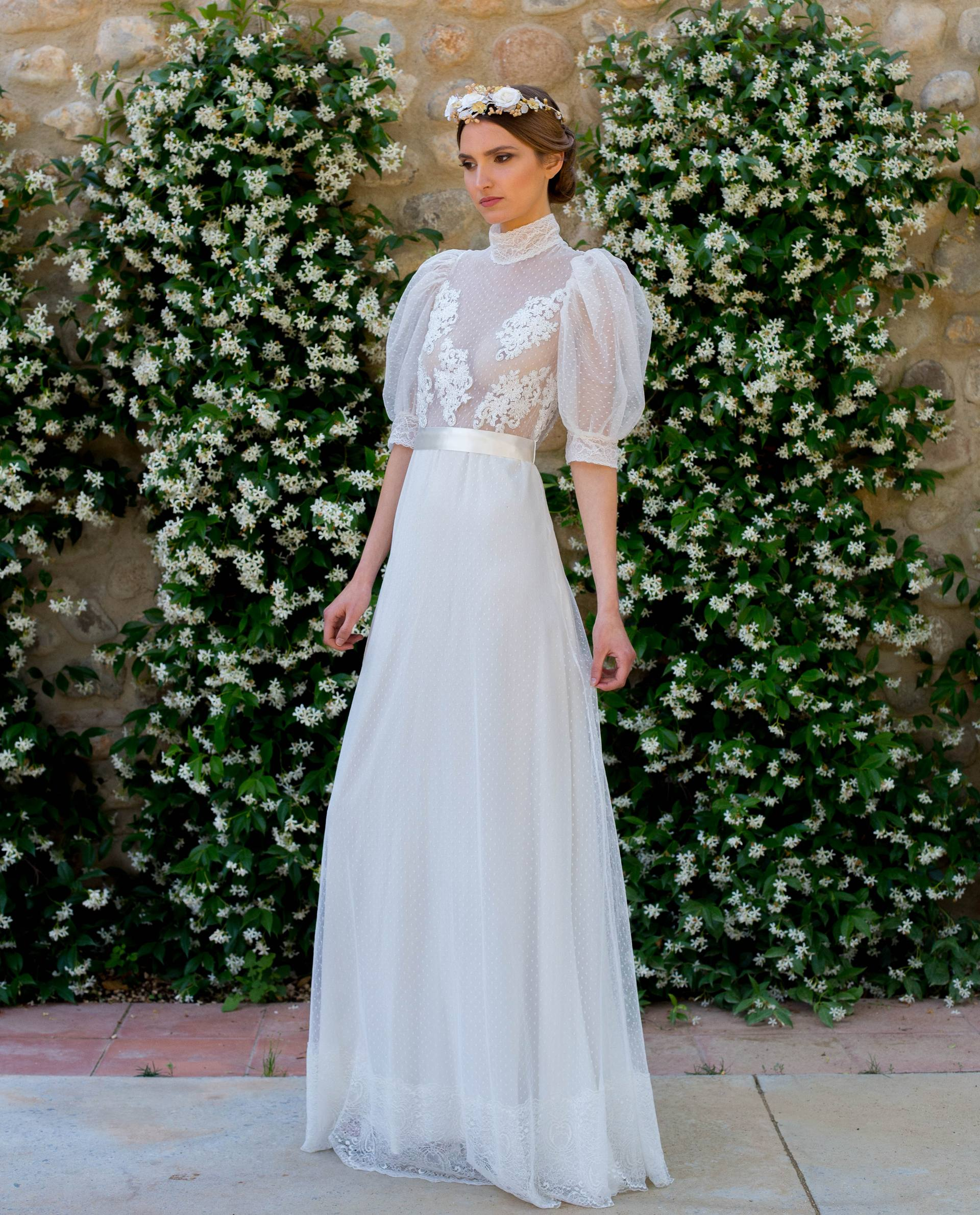 BRIDAL-NATURE 2018/19 - VESTIDOS - vestido novia Carmen