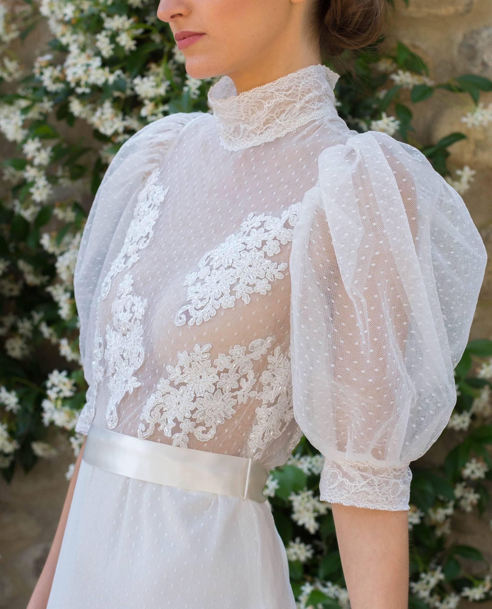 Detalle vestido novia Carmen