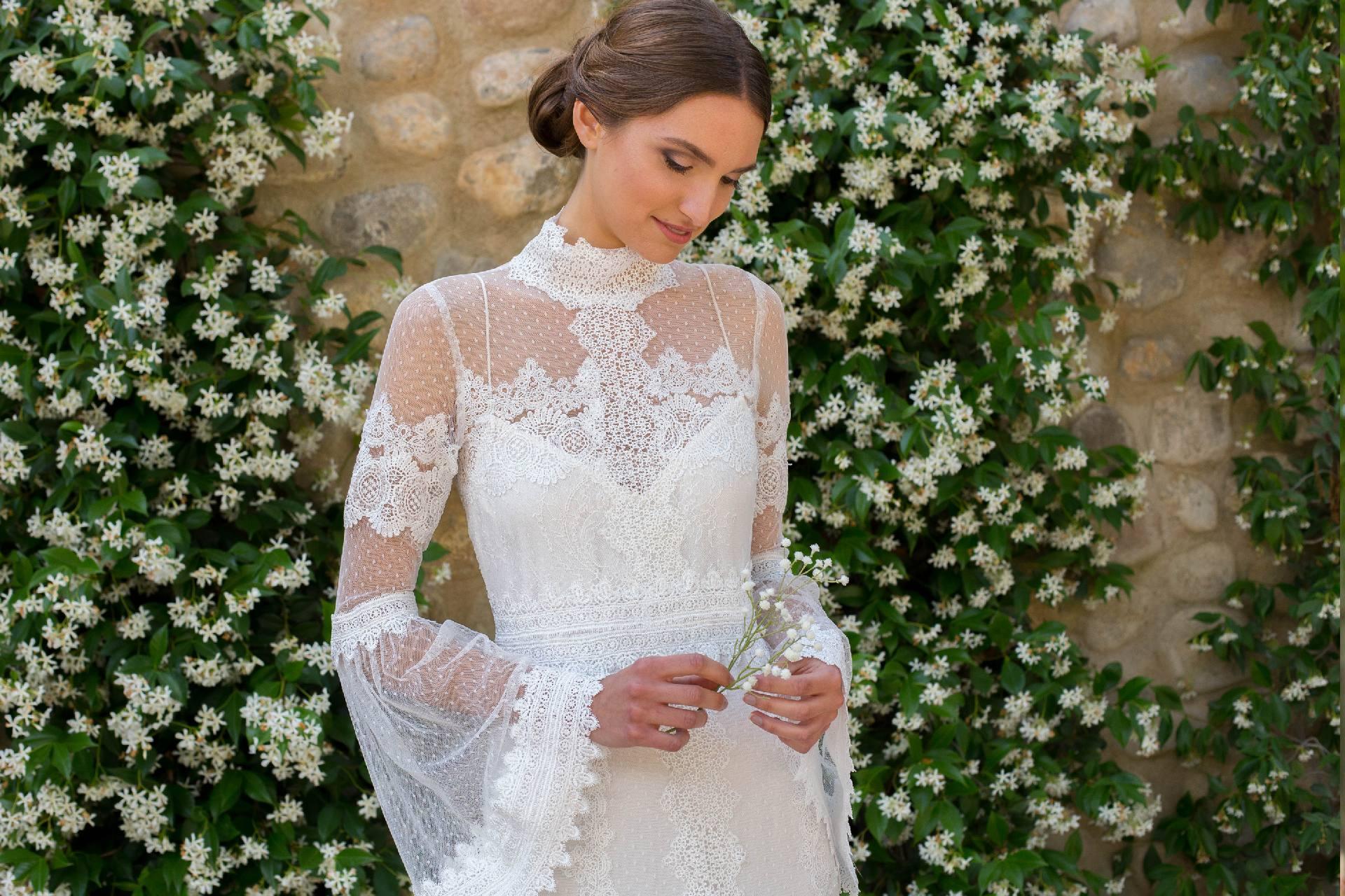 Detalle vestido novia Julia