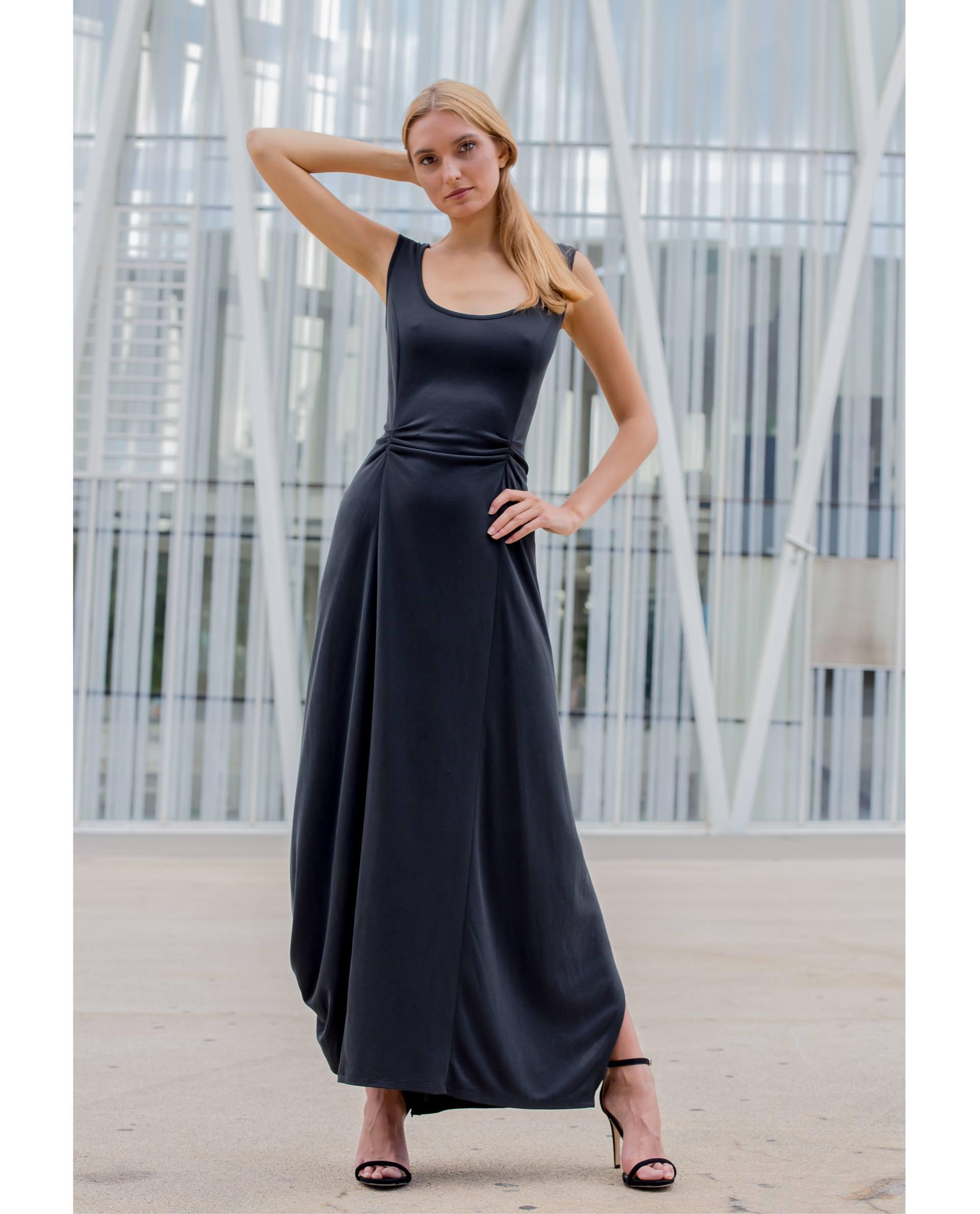 PRÊT À PORTER-SPRING/SUMMER 2018 - VESTIDOS - vestido viscosa negro Palafrugell